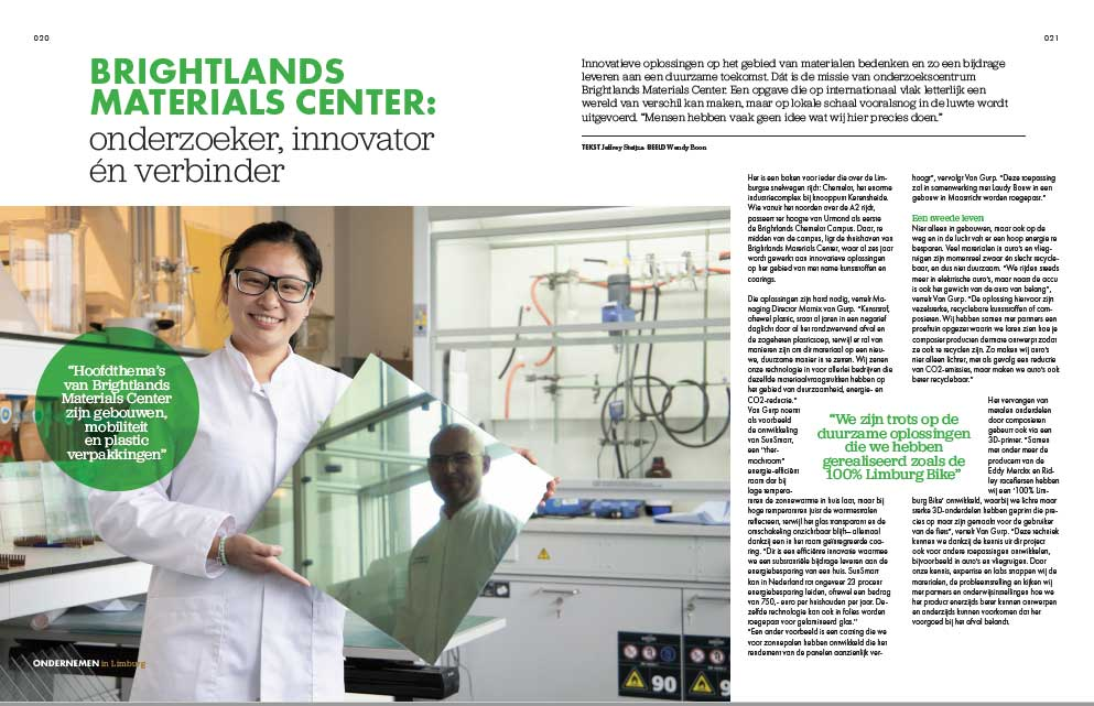 Brightlands Materials center: researcher innovator and connector